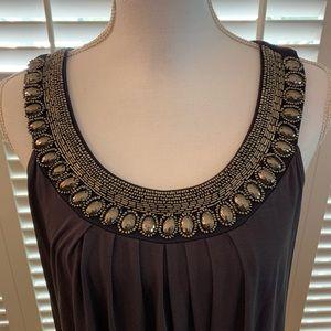 Embellished A line dress